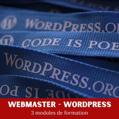 Webmaster WordPress Bloc Certifiant